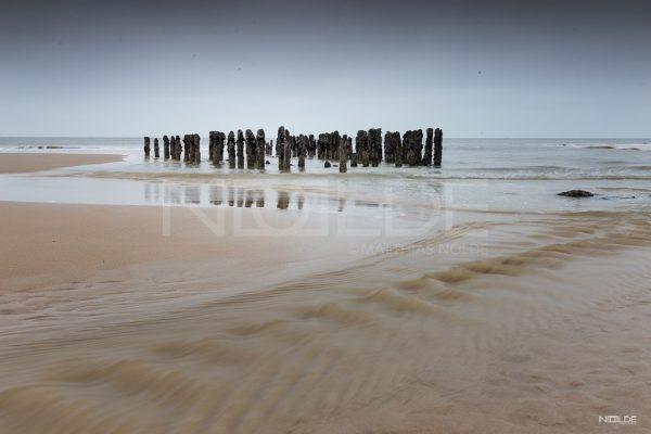 Alte Buhne am Strand von Sylt