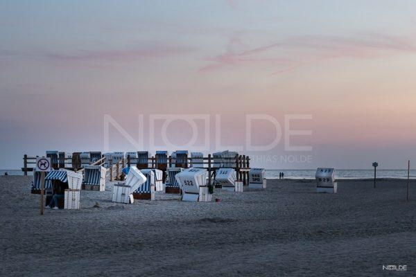 Strandkörbe am Strand von St. Peter Ording